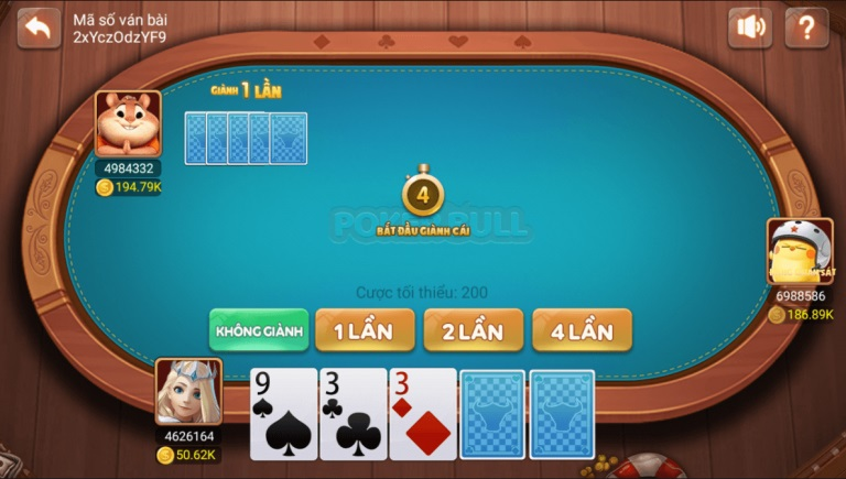 game Poker Bull tại CF68
